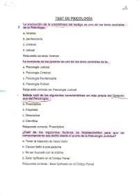 cuestionario psicologia