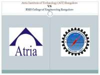 Atria Institute of Technology (AIT) Bangalore VS BMS College of Engineering Bangalore..pdf, Exercises for Information Technology Management