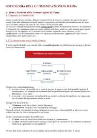 Sociologia delle Comunicazioni di massa, Renato Stella - Manuale Completo