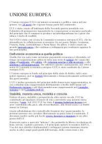 RICERCA UNIONE EUROPEA CON TRATTATI DI ROMA E BREXIT