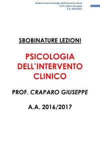 SBOBINATURE LEZIONI INTERVENTO CLINICO A.A. 201672017