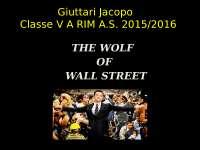 tesina the wolf of wall street