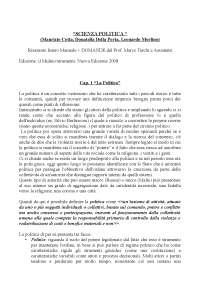Riassunto Maurizio Cotta, Donatella Della Porta, Leonardo Morlino - Scienza Politica (Completo) + DOMANDE MARCO TARCHI
