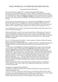 La stampa nel regime fascista - Paolo Murialdi, Sintesi di Storia