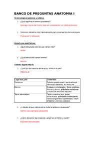 Banco de preguntas y apuntes de anatomia (Fuente: Moore)