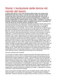 TESI DI LAUREA SULL'EVOLUZIONE DELLE DONNE NEL MONDO DEL LAVORO DALLA 2 RIVOLUZIONE AD OGGI