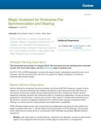 Magic Quadrant for Enterprise File Sync