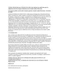 NOM 022 Norma Oficial Mexicana 022