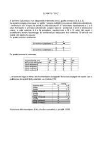 Compito tipo dell'esame di Programmazione e Controllo