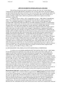 Appunti corso diritto internazionale corso di laurea SECI