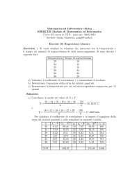 Modello di regressione lineare