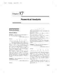 Numerical Analysis Chap : 17