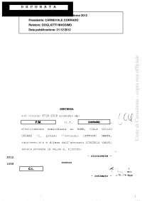 esempio di sentenza della corte di cassazione