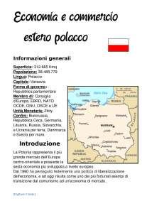 Relazione sull'economia e il commercio estero polacco