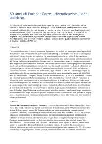60 anni di Europa, analisi breve dei cortei e delle rivendicaizioni di Roma 25 marzo 2017.