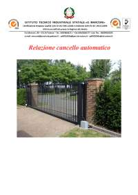 Relazione cancello automatico scorrevole