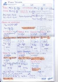 CINETICA QUIMICA  formulario sobre metodos numericos
