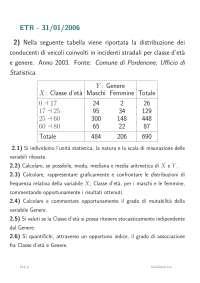 Esercizi statistica sociale