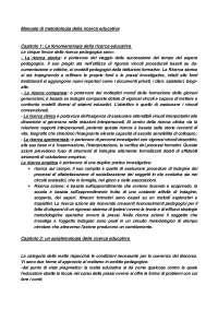 Manuale di metodologia della ricerca educativa