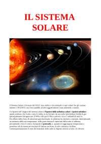 IL SISTEMA SOLARE (tesina scienze)
