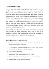 internal and external change agents