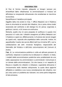 Discorso tesi di laurea sulle URP.