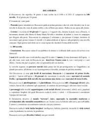 Decameron, Chichibio e Andreuccio da Perugia riassunto, Schemi e mappe concettuali di Italiano