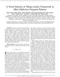 a novel iot centric framework to mine fp