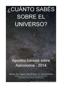 ¿Cuánto sabes sobre el Universo? Apuntes Básicos sobre Astronomía, Tesis de Astronomía