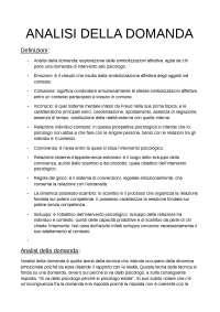 Riassunto Analisi della Domanda, Carli e Paniccia.