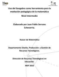 Geogebra Manual Nivel Intermedio