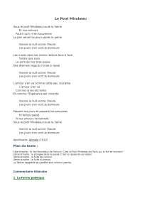 commento poesia Le pont Mirabeau