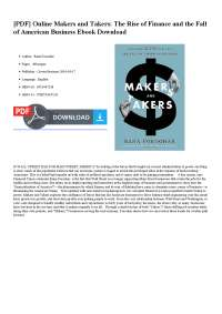 Makers and takers book, Thesis for Public finance
