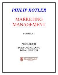 marketing managment book summary