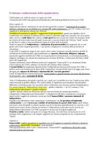 Il sistema costituzionale della magistratura, Sintesi di Diritto Pubblico