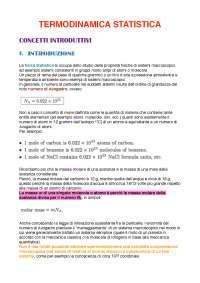 Appunti termodinamica statistica