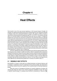 An Application on Heat Effects, Exercises for Process Engineering