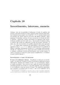 Investimento, interesse, moneta