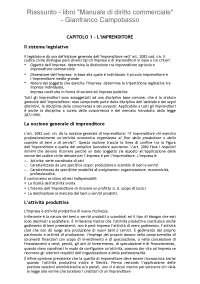 Manuale di Diritto Commerciale, riassunto integrale del libro - Gianfranco Campobasso ed. 2018