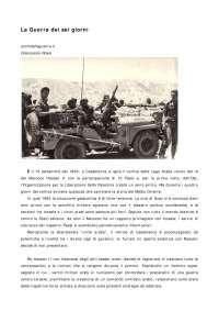 La guerra dei sei giorni 5 Giugno 1967