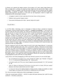 Riassunto Histoire de la langue française-Mireille Huchon