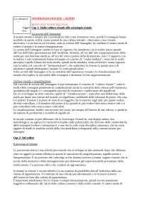 Appunti Esame Sociologia Visuale prof Alpini