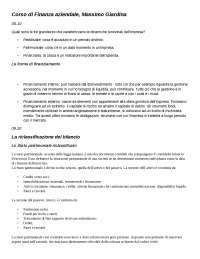Corso di finanza aziendale prof. Giardina