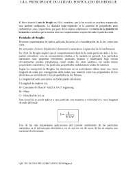 Principio de dualidad y postulado de Broglie