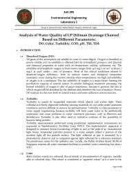 EnE 205    Environmental Engineering Laboratory 1