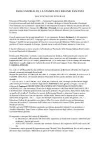 LA STAMPA DEL REGIME FASCISTA, MURIALDI