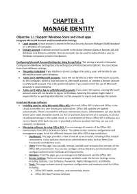 70-697- Manage identity