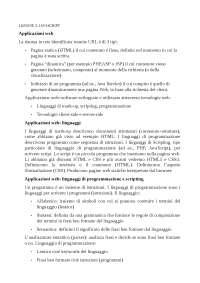 Riassunto lezione Java script
