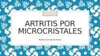 Artritis por microcristales en Reumatología.