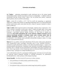 Skripta iz primenjene antropologije, Beleške' predlog Antropologija i sociologija